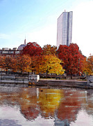 Charles River Digital Art Prints -  Back Bay Colors Print by Carl Licence