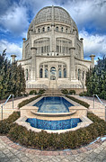 Fountain Photo Prints -  Bahai Temple Print by Scott Norris