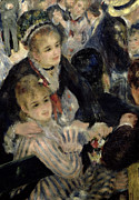 Striped Dress Art -  Ball at the Moulin de la Galette by Pierre Auguste Renoir