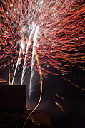 Bastille Photo Prints -  Bastille Day Fireworks Print by Sami Sarkis
