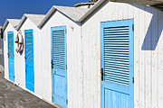 Life Changing Framed Prints -  Beach Cabins Framed Print by George Oze