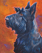 Scottie Portrait Paintings -  Beam Me Up Scottie by Shawn Shea