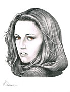 Celebrity Portrait Drawings Posters -  Bella Poster by Murphy Elliott