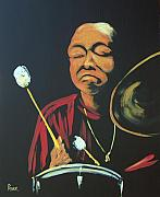 Jazz Painting Originals -  Big Elvin by Pete Maier