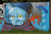 Folkart Photos -  Blue Bubble Boy by Carl Purcell
