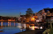 """schuylkill River""  Prints -  Boathouse Row  Print by John Greim"