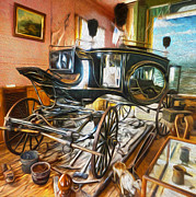 Gregory Dyer Posters -  Bodie Ghost Town - Funeral Carriage Poster by Gregory Dyer