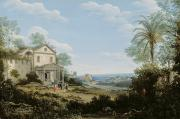 Brazilian Framed Prints -  Brazilian Landscape Framed Print by Frans Jansz Post