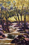 Yosemite Paintings -  Bridalvale Downstream by Ed Lucey