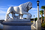 Richard Burr Acrylic Prints -  Bridge of Lions Acrylic Print by Richard Burr