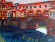 Famous Bridge Originals -  bridge on the Arno by Lia  Marsman