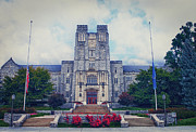 Students Framed Prints -  Burruss Hall Framed Print by Kathy Jennings