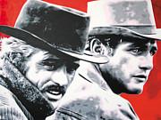 - Butch Cassidy And The Sundance Kid - Print by Luis Ludzska