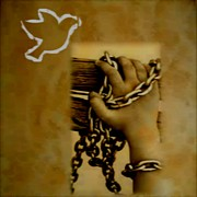 Chains Paintings -  Chains And Peace by Rana Ranan