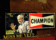 President Bush Prints -  Champ Not Villain Print by Joe JAKE Pratt