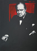 Ludzska Prints - - Churchill - Print by Luis Ludzska