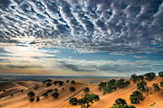 Sun Rays Art -  Clouds Over East Bay Hills by Marc Crumpler