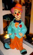 Paper Mache Sculptures -  Clown Logic 15 by Perez