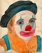 Clown Looking In A Mirror Print by Thomas J Norbeck