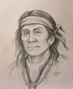 Chief Drawings Originals -  Cochise by Linda McCoy