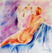 Woman Artist Pastels Acrylic Prints -  Creator of Beauty Acrylic Print by Sandy Ryan