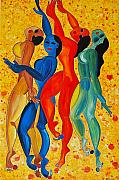 Abstract Dance Painting Originals -  Dancing Aphrodities by Dorota Nowak