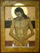 Jesus Christ Icon Painting Metal Prints -  Do Not Cry For Me Metal Print by Phillip Schwartz