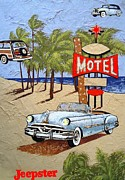 Motel Mixed Media Prints -  Dream Vacation Print by Dan Haraga