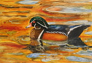 Wood Duck Painting Posters -   Duck Soup Poster by Bobby Walters