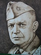 David Pyrography -  Dwight David Eisenhower by Sucheol Kong