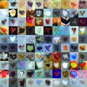Contemporary Heart Collage Digital Art -  Eight Hundred Series by Boy Sees Hearts