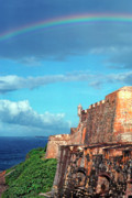 Puerto Rico Art -  El Morro Fortress Rainbow by Thomas R Fletcher