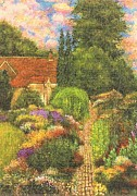 Red White And Blue Drawings -   English House and Garden 2 by    Armand  Storace