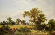 Farmhouse Paintings -  Essex Landscape  by James Edwin Meadows
