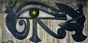 Egyptian Pyrography -  Eye by I NaSoM I