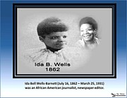 Ida B. Wells-barnett Framed Prints -  Famous Writer Framed Print by Belinda Threeths