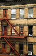 Egress Framed Prints -  Fire Escapes - NYC Framed Print by Madeline Ellis