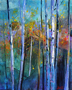 Impressionistic Paintings -  Forest Highlight by Bente Hansen