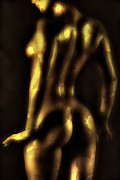 Naked Back Posters -  Glow Poster by David  Naman