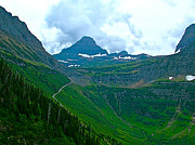 Montana Digital Art -  Going to the Sun Road from Highline Trail in Glacier NP by Ruth Hager