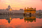 Golden Temple Print by Luciano Mortula