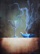 Ashtray Paintings -  Happy Hour by Lori King