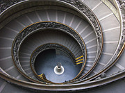 Staircase Prints -  Heart of the Vatican Museum Print by Sandra Bronstein