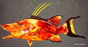Wildlife Art Reliefs -  Hog Snapper Fish Sculpture by Douglas Snider