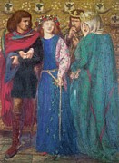 The King Art -  Horatio Discovering the Madness of Ophelia  by Dante Charles Gabriel Rossetti