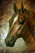 Horse Head Paintings -  Horse head by Arthur Braginsky