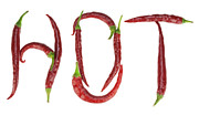 Hot Peppers Posters -  HOT word Poster by Aleksandr Volkov