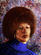 Civil Rights Painting Metal Prints -  Impassable Me - Angela Davis1 Metal Print by Reggie Duffie
