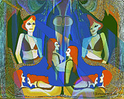 Harem Metal Prints -   In the Harem  - 124 Metal Print by Irmgard Schoendorf Welch