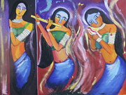 Want Drawings Prints -  Indian Ladies Print by Tanya Sahu